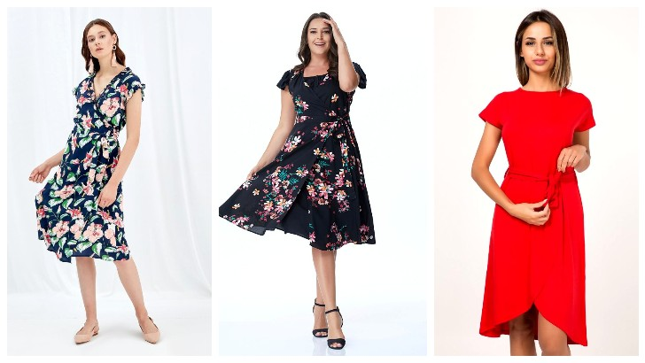 Beli İnce Gösteren Şık ve Zarif Anvelop Elbise Modelleri